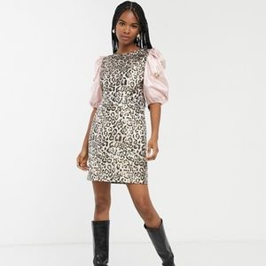 Sister Jane mini dress in leopard with embellished